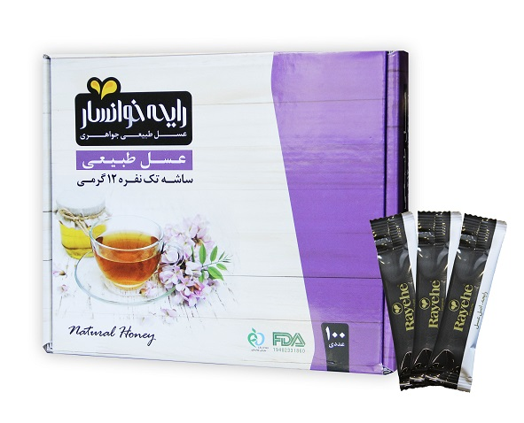 عسل ساشه تکنفره طبیعی رایحه-100عددی