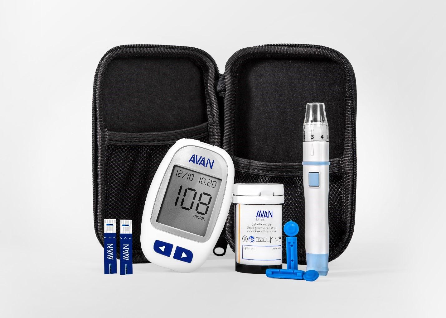 دستگاه تست قند خون آوان با نوار25 عددی